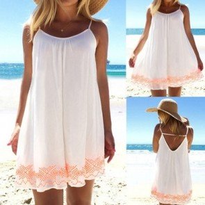 Chiffon Mini Dress Strapless Halter Beach Party Dresses
