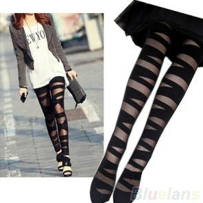 Pantyhose Ripped Stretch Tights Legging Mock Stocking