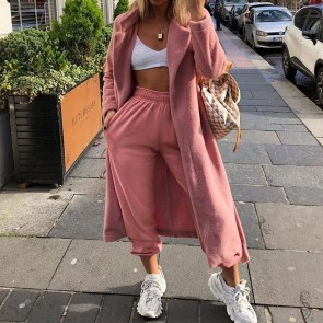 Fashion High Waist Trousers Baggy Loose Sweat Pants
