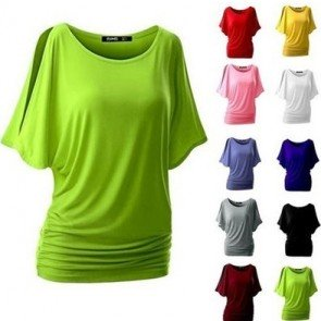 Casual Round Collar Short Sleeve T-shirt Pullover Tops