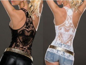 Lace Vest Top Sleeveless Shirt Blouse Casual Tank Tops