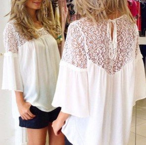 Crochet Backless T-shirt Loose Casual Tops Blouse Tee