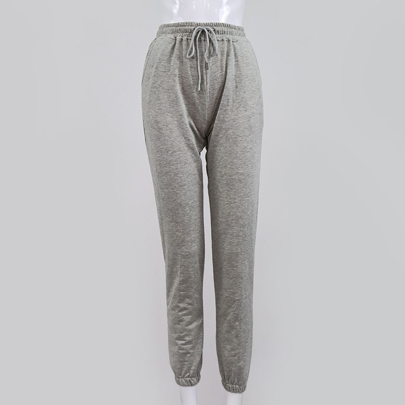 Drawstring Pockets Pleated Scrunch Casual Sports Pants