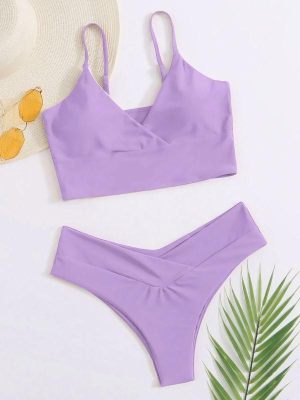 Bold Under Breast Support Spaghetti Straps Bikini