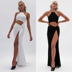 Long Party Hollow Out Split Hem Sexy Back Maxi Dress