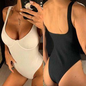Push Up One Piece Swimsuit High Waist Monokini